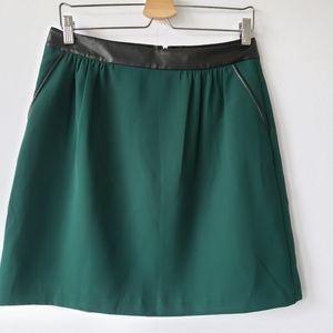 Banana republic green A-line skirt size 6